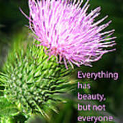 Everything Has Beauty Poster