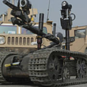 Explosive Ordnance Disposal Robot Used Poster