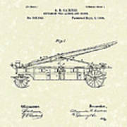 Extension Fire Ladder 1895 Patent Art Poster