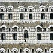 Exterior Of Ornate Mud House, Close Up Poster