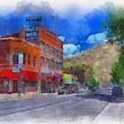 F And S Salida Watercolor Poster