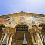 facade of Church of all Nations Jerusalem Poster