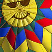 Face Inside Hot Air Balloon  Poster