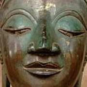 Face Of Bronze Buddha  Poster