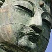 Face Of The Daibutsu Or Great Buddha Poster