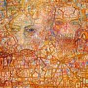 Faces On An Icon Poster by Pg Reproductions