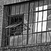 Factory Air In New Orleans In Black And White Poster