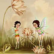 Fairies In The Garden Poster
