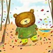 Fall Bear Poster by Scott Nelson