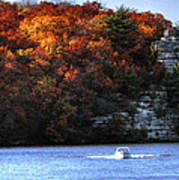 Fall Boating At Starved Rock Poster
