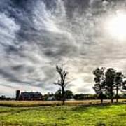 Fall Farm View Poster by Dan Crosby