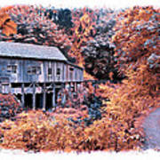 Fall Grist Mill Poster