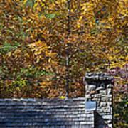 Fall House In Carolina Poster
