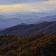 Fall Sunset On The Blue Ridge Poster