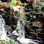 Fall Waterfall Poster