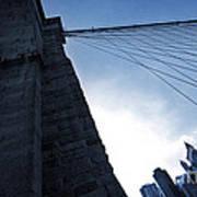 Falling Lines - Brooklyn Bridge Poster