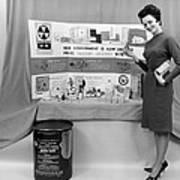 Fallout Shelter Supplies, Usa, Cold War Poster