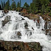 Falls Glen Alpine Falls Tahoe Poster