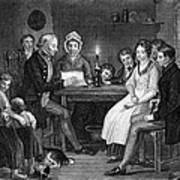 Family Reading, 1840 Poster