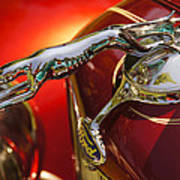Fancy Ford Chrome Hood Ornament Poster