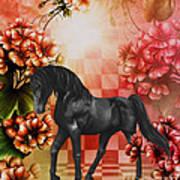 Fantasy Black Horse Poster