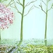 Fantasy Garden Poster by Edwin Alverio