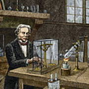 Faraday's Electrolysis Experiment, 1833 Poster by Sheila Terry
