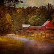 Farm - Barn - Rural Journeys  Poster by Mike Savad