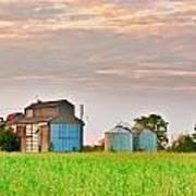 Farm Buildings Poster