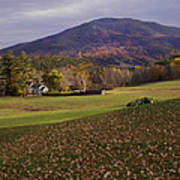 Farm By Ascutney Mountain Vermont Poster
