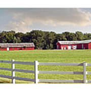 Farm Pasture Poster by Brian Wallace