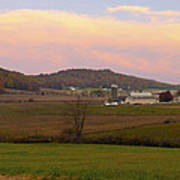 Farm Scene From Knoll On Rt. 41  Poster