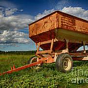 Farmer's Grain Wagon Poster