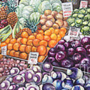 Farmers Market Poster by Nancy Pahl