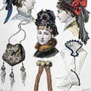 Fashion: Hats, C1875 Poster