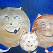 Fat Cat Family Poster