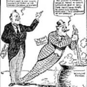 F.d. Roosevelt Cartoon Poster