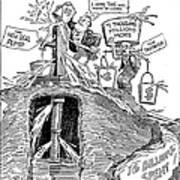F.d.r. Cartoon, 1930s Poster