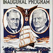 Fdr: Inauguration, 1933 Poster