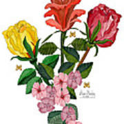 February 2012 Roses And Blooms Poster
