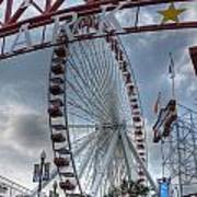 Ferris Wheel At The Pier Poster