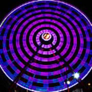 Ferris Wheel Blue Poster