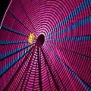 Ferris Wheel In Pink Poster