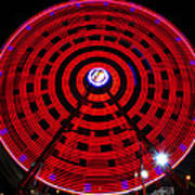 Ferris Wheel Red Poster