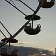 Ferris Wheel Silhouette Poster