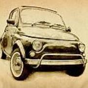 Fiat 500l 1969 Poster by Michael Tompsett