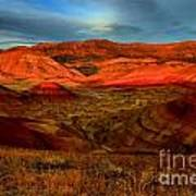 Fiery Painted Hills Poster
