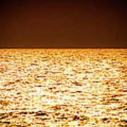 Fiery Sunset Over The Sea Poster
