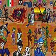 Fiesta Del Dia De Los Muertos Poster