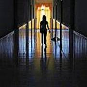 Figure In The Corridor Poster